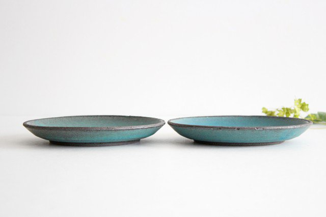 美濃焼 オアシス 5寸皿 ブルー 陶器 画像2