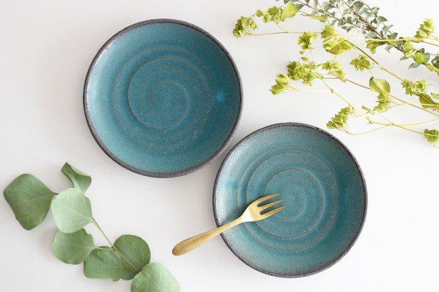 美濃焼 オアシス 5寸皿 ブルー 陶器 画像4