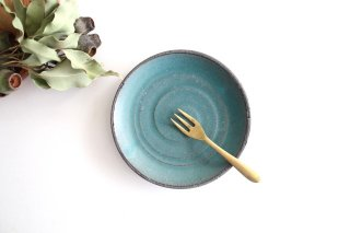 5寸皿 ブルー 陶器 オアシス 美濃焼商品画像