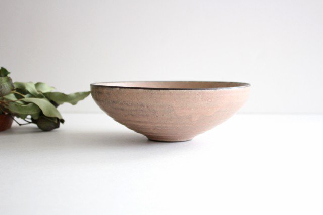 美濃焼 盛り鉢 マットピンク 陶器