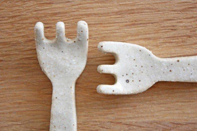 美濃焼 フォーク箸置き ホワイト 陶器 画像6