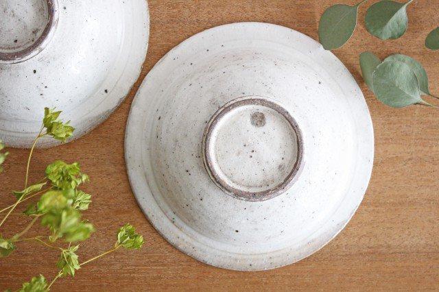 美濃焼 ろくろ粉引 リムボウル 陶器 画像5