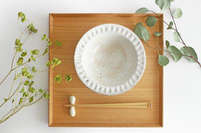 美濃焼 ろくろ粉引 リムボウル 陶器 画像6
