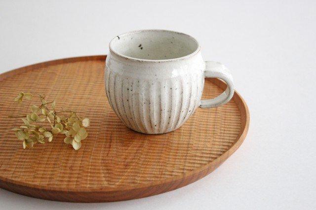 美濃焼 ろくろ粉引 そぎまるマグ 陶器