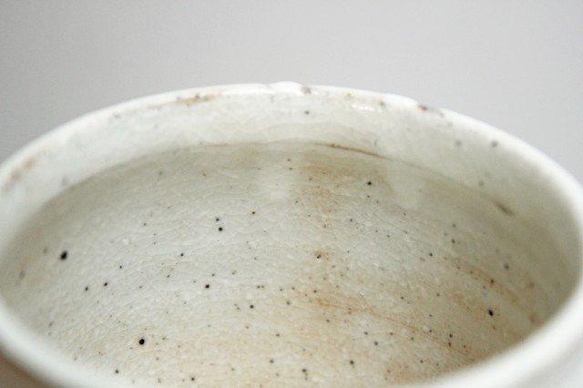 美濃焼 ろくろ粉引 そぎまるマグ 陶器 画像4