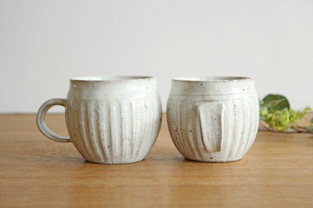 そぎまるマグ ろくろ粉引 陶器 美濃焼  画像5