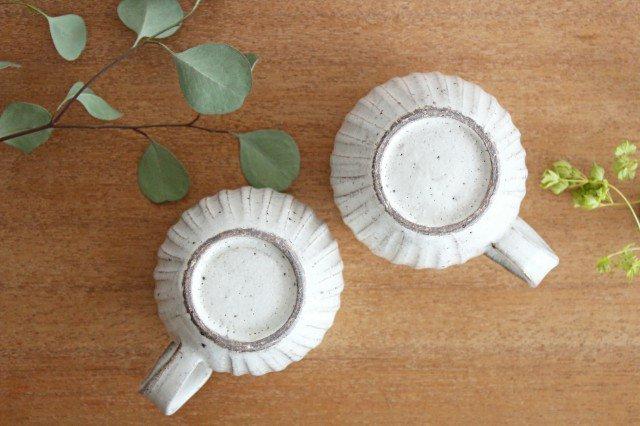 そぎまるマグ ろくろ粉引 陶器 美濃焼  画像6