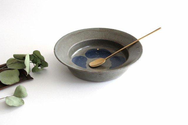 スープ皿 緑 陶器 小山暁子