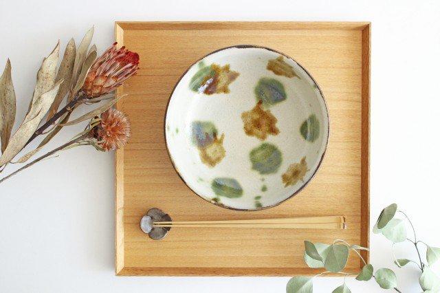 6寸鉢 オーグスヤアメ 点打 陶器 青陶舎 やちむん 画像2