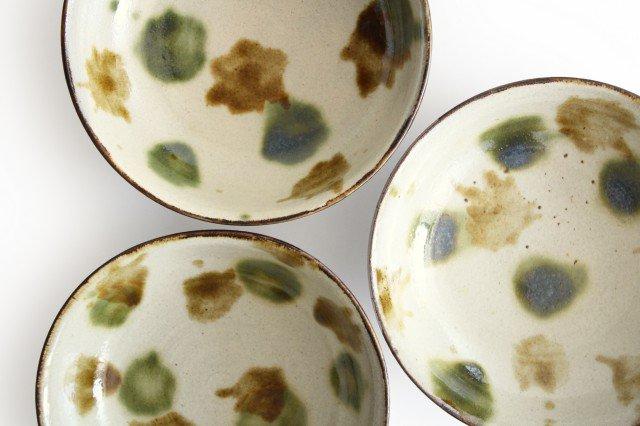 6寸鉢 オーグスヤアメ 点打 陶器 青陶舎 やちむん 画像4