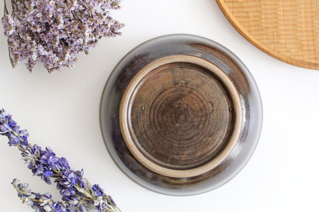 6寸鉢 オーグスヤアメ 点打 陶器 青陶舎 やちむん 画像6