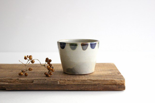 そばちょこカップ 3色ドット 陶器 mug やちむん