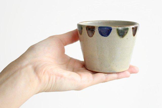 そばちょこカップ 3色ドット 陶器 mug やちむん 画像2