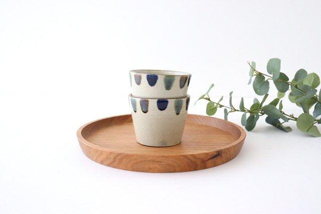 そばちょこカップ 3色ドット 陶器 mug やちむん 画像4