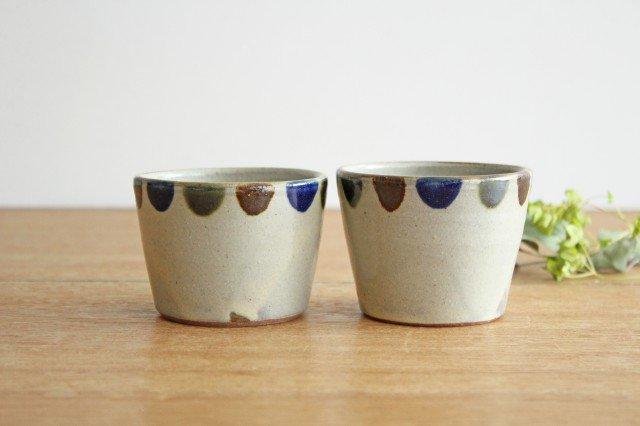 そばちょこカップ 3色ドット 陶器 mug やちむん 画像5