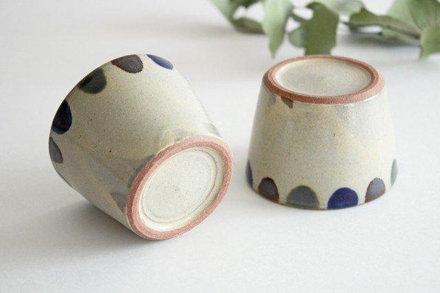 そばちょこカップ 3色ドット 陶器 mug やちむん 画像6