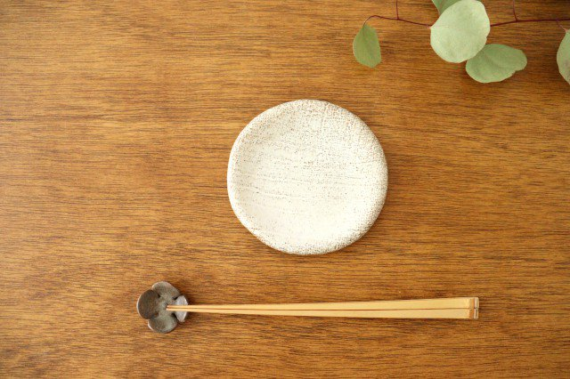 ざぶとん丸小皿 白 陶器 宮崎和佳子 画像3
