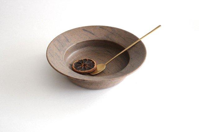 スープ皿 茶 陶器 小山暁子