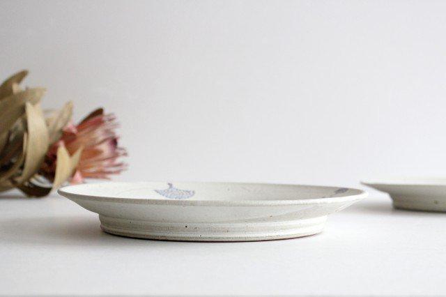 リム皿 白 陶器 小山暁子 画像2