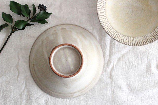 リム平鉢 L さざなみ 陶器 シモヤユミコ 画像4