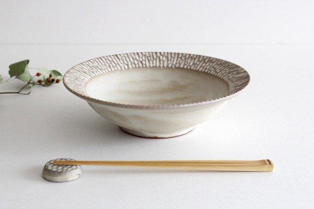 リム平鉢 L さざなみ 陶器 シモヤユミコ 画像6