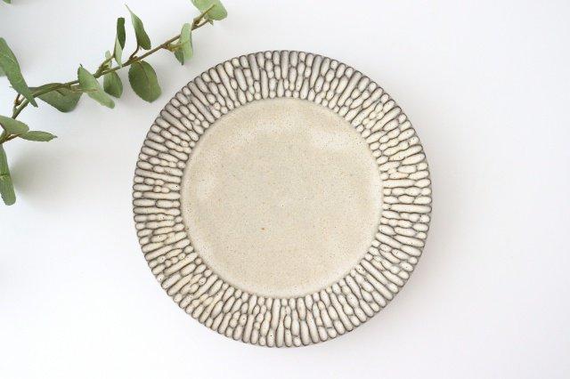 リム7寸皿 さざなみ 陶器 シモヤユミコ