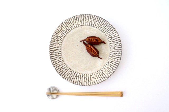 リム7寸皿 さざなみ 陶器 シモヤユミコ 画像3