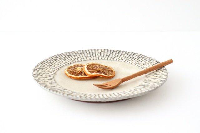 リム7寸皿 さざなみ 陶器 シモヤユミコ 画像4