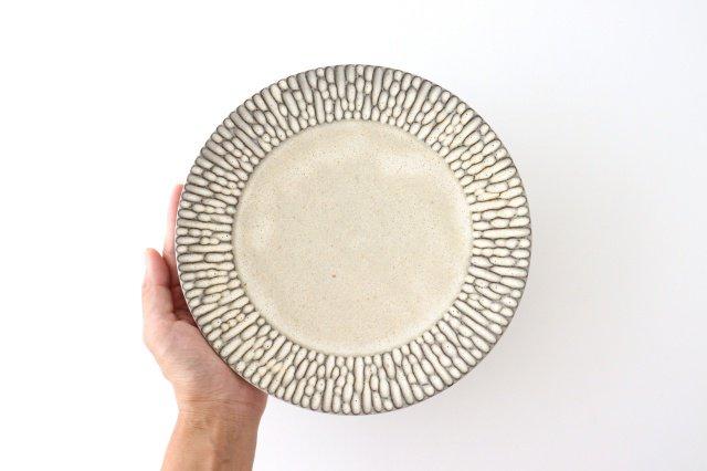 リム7寸皿 さざなみ 陶器 シモヤユミコ 画像6