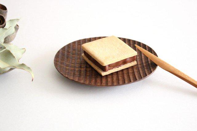 楕円豆皿 ブラックウォルナット Semi-Aco 加賀雅之