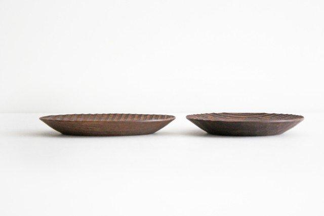 楕円豆皿 ブラックウォルナット Semi-Aco 加賀雅之 画像2