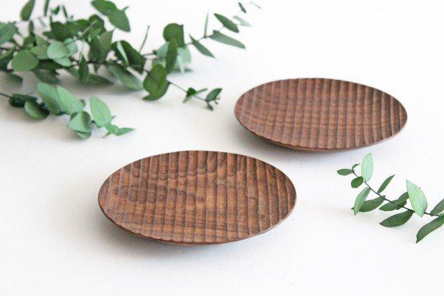 楕円豆皿 ブラックウォルナット Semi-Aco 加賀雅之 画像3