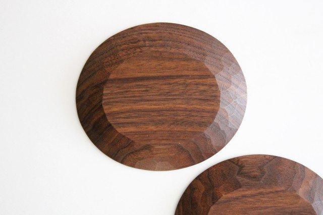 楕円豆皿 ブラックウォルナット Semi-Aco 加賀雅之 画像5