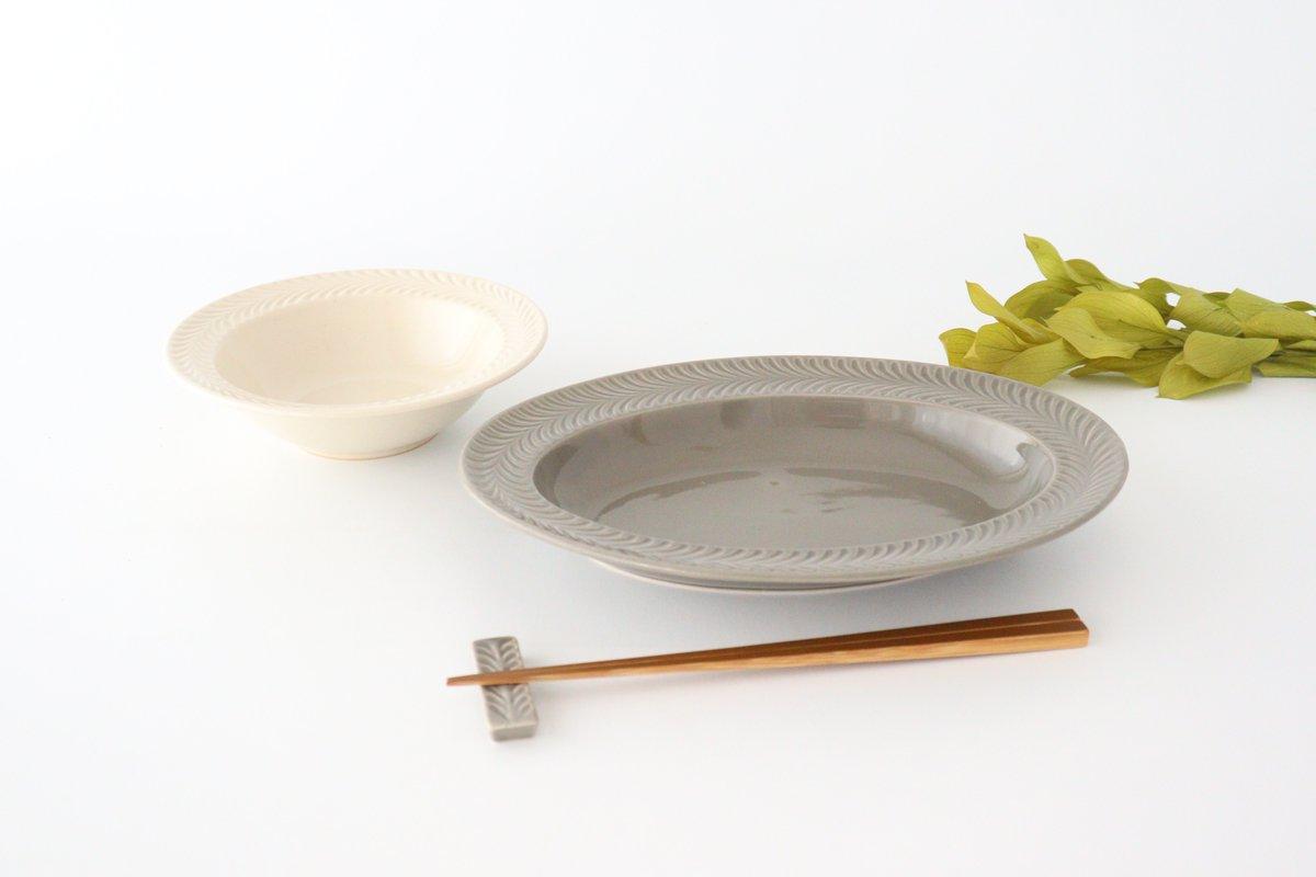オーバル皿 グレー 陶器 ローズマリー 波佐見焼 画像2