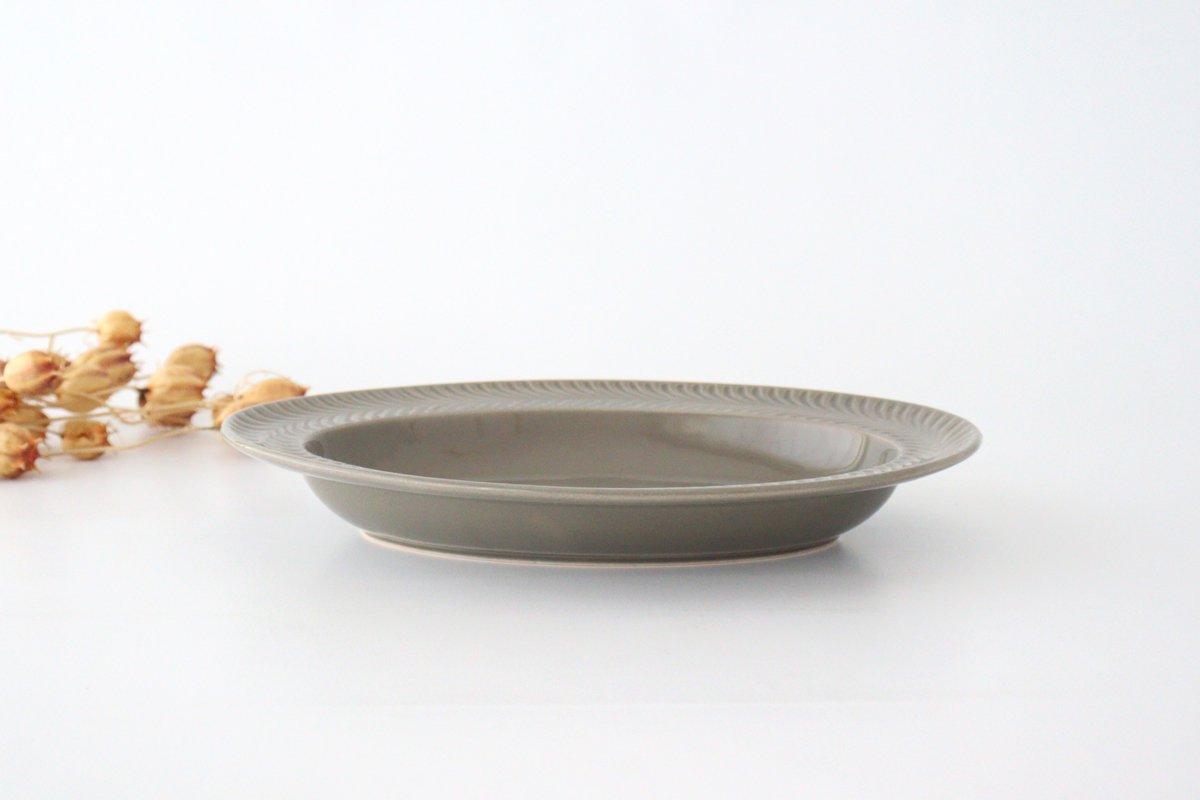 オーバル皿 グレー 陶器 ローズマリー 波佐見焼 画像3
