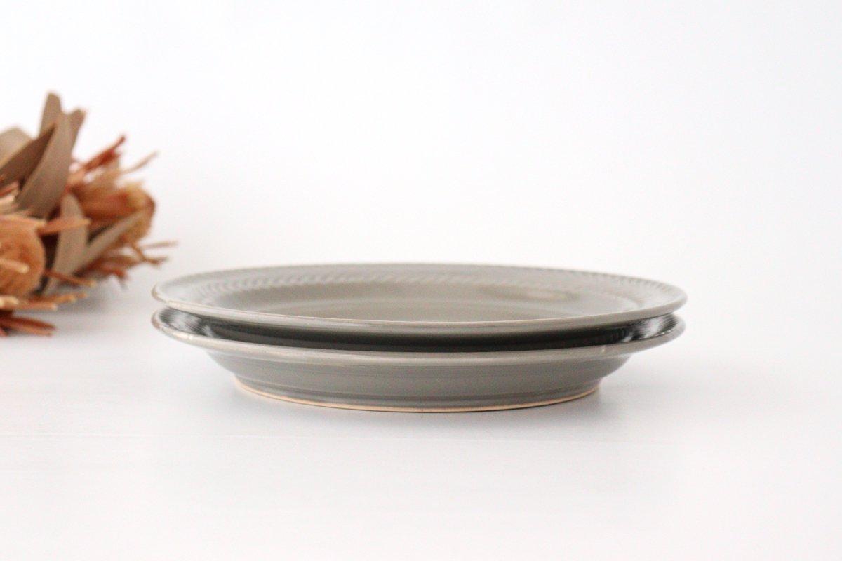 ローズマリー 24cmプレート グレー 陶器 波佐見焼 画像2