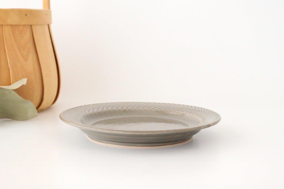 ローズマリー 17.5cmプレート グレー 陶器 波佐見焼 画像4