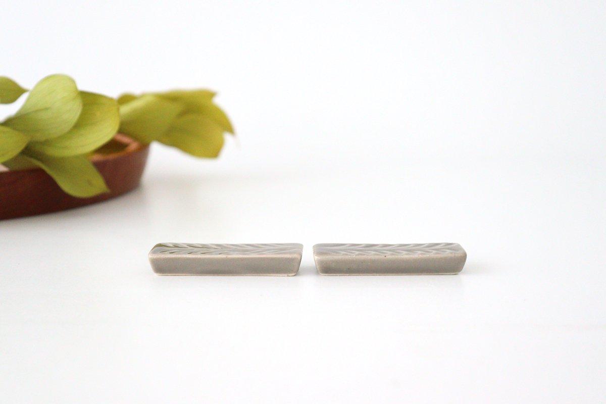箸置き グレー 陶器 ローズマリー 波佐見焼 画像3