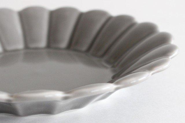 キクワリ 15cm丸皿 グレー 磁器 波佐見焼 画像5