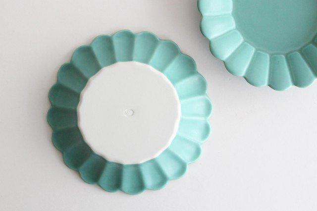 キクワリ 15cm丸皿 ミントマット 磁器 波佐見焼 画像3