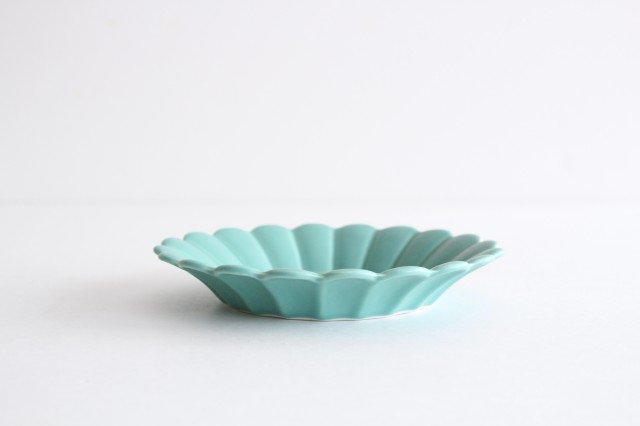 キクワリ 15cm丸皿 ミントマット 磁器 波佐見焼 画像4