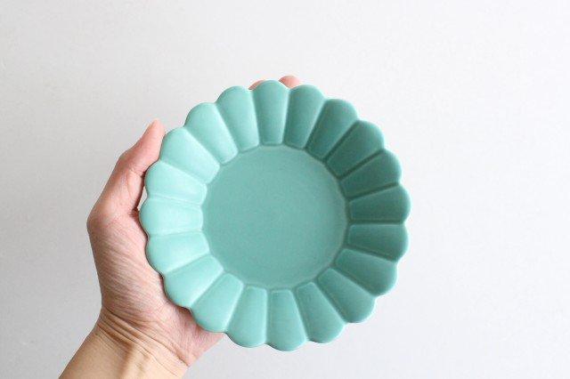 キクワリ 15cm丸皿 ミントマット 磁器 波佐見焼 画像5