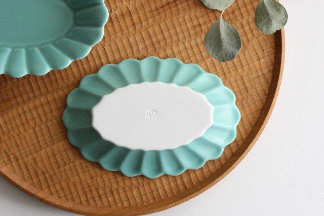 キクワリ 楕円皿 小 ミントマット 磁器 波佐見焼 画像5