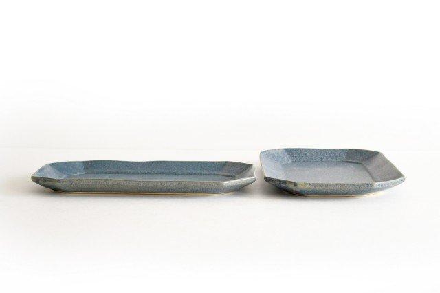 長八角皿 大 呉須 陶器 石井ハジメ 画像2