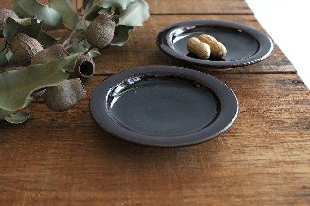 リム飛びカンナ豆皿 アメ 陶器 圭秀窯 小石原焼 画像4
