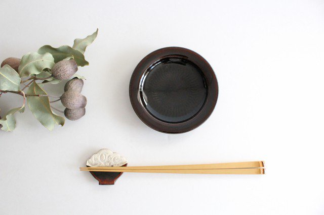 リム飛びカンナ豆皿 アメ 陶器 圭秀窯 小石原焼 画像5