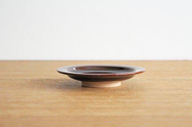 リム飛びカンナ豆皿 アメ 陶器 圭秀窯 小石原焼 画像6