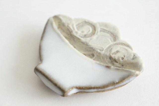 ごはん箸置き 白 陶器 圭秀窯 小石原焼 画像5