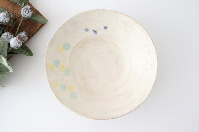 雫の森 大鉢 カラフル 森のあそび 陶器 こむろしずか