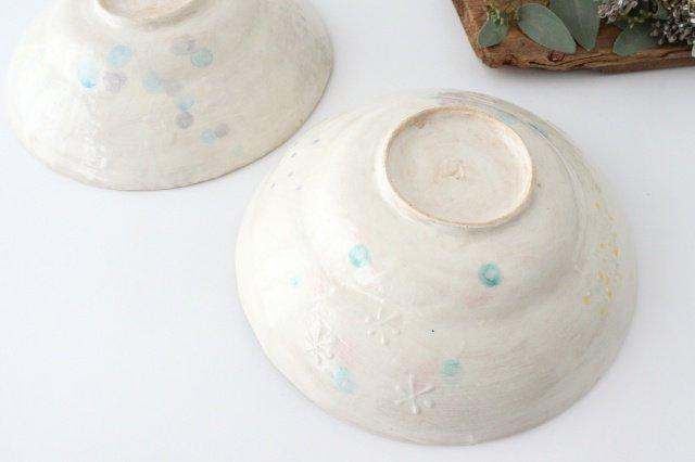 雫の森 大鉢 カラフル 森のあそび 陶器 こむろしずか 画像3